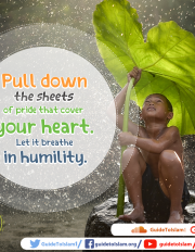 Pull down the sheets of pride that cover your heart