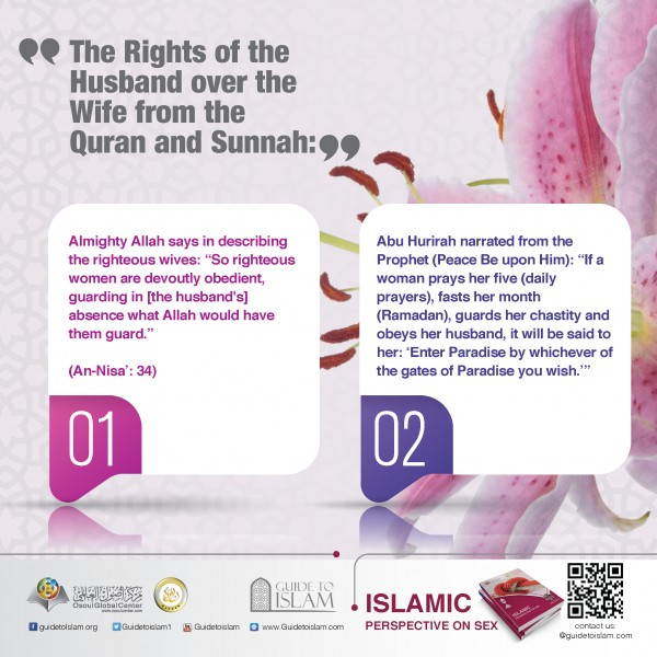 The rights of the husband over the wife from the Quran and Sunnah