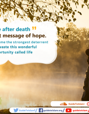 Life after death is the best message of hope