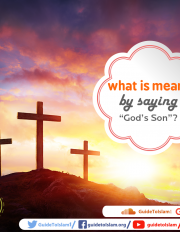 "what is meant by say­ing ""God's Son""?"