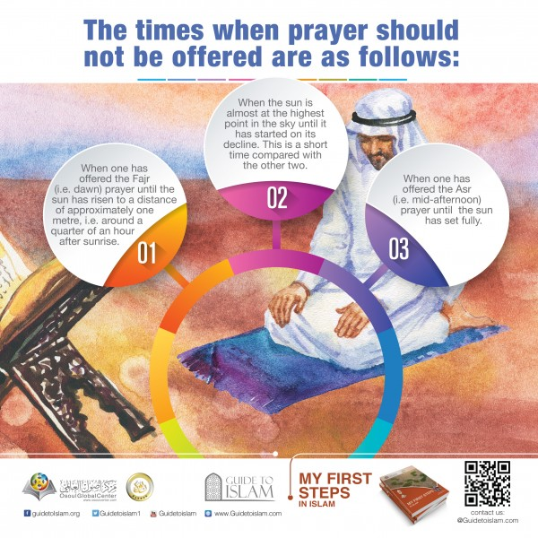The times when prayer should not be offered are as follow