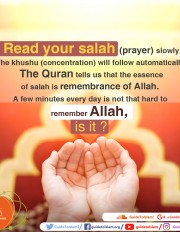 The essence of Salah is remembrance of Allah
