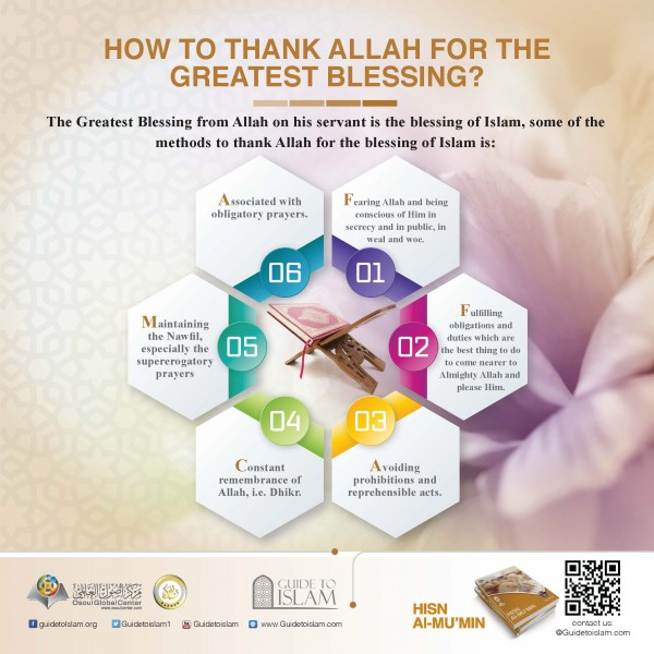 How to thank Allah for the greatest blessing?