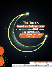 The Torah, Gospel, and Psalms of today are not the original ones God revealed