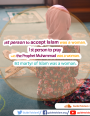 1st person to accept Islam was a woman