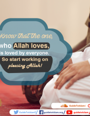 Know that the one who Allah loves, is loved by everyone