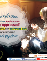 Estimated 80% new converts to Islam are women!