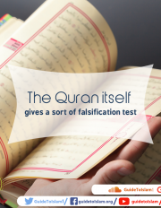 The Quran itself gives a sort of falsification test