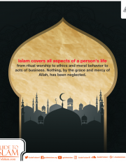 ​​Islam covers all aspects of a person's life