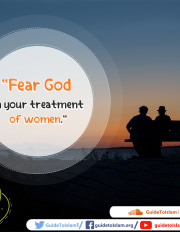 Fear God in your treatment of women