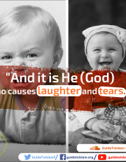 God causes laughter and tears