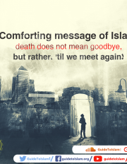 Comforting message of Islam