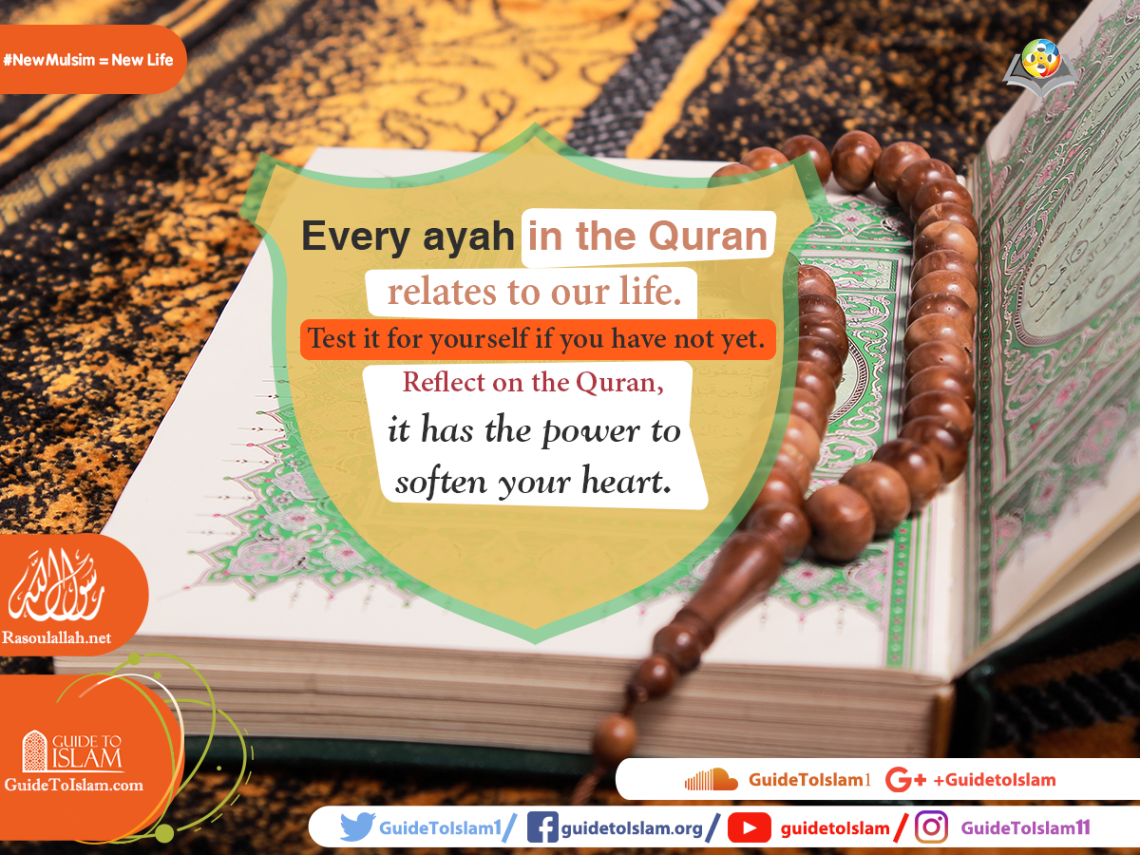 Every ayah in the Quran relates to our life