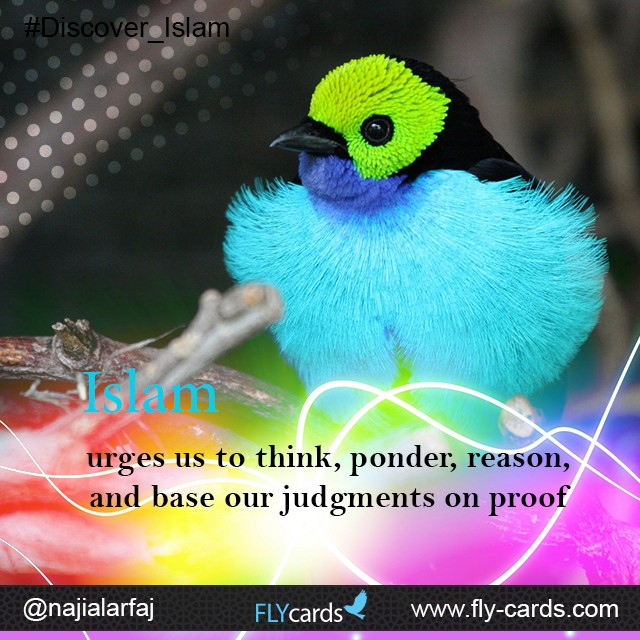 Islam urges us to think, ponder, reason, and base our judgments on proof.