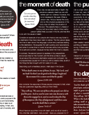 Death & the Hereafter in Islam II