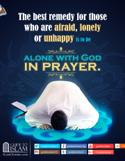 The best remedy for those who are afraid is to be alone with God in prayer .
