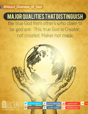 This true God is Creator,Maker not made
