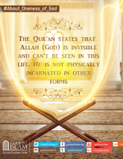 The Qur'an states that Allah (God) is invisible and can't be seen in this life