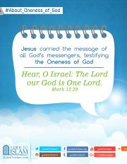Jesus carried the message of all God's messengers ,testifying the Oneness of God