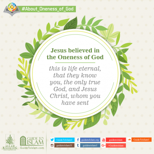 Jesus believed in the Oneness of God