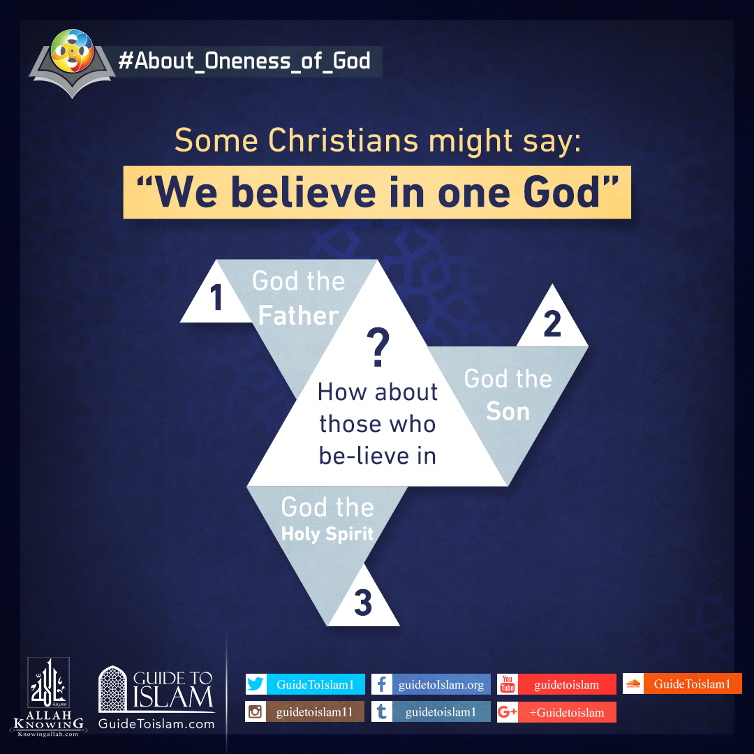 "Some Christians might say : "" ""we believe in one God"