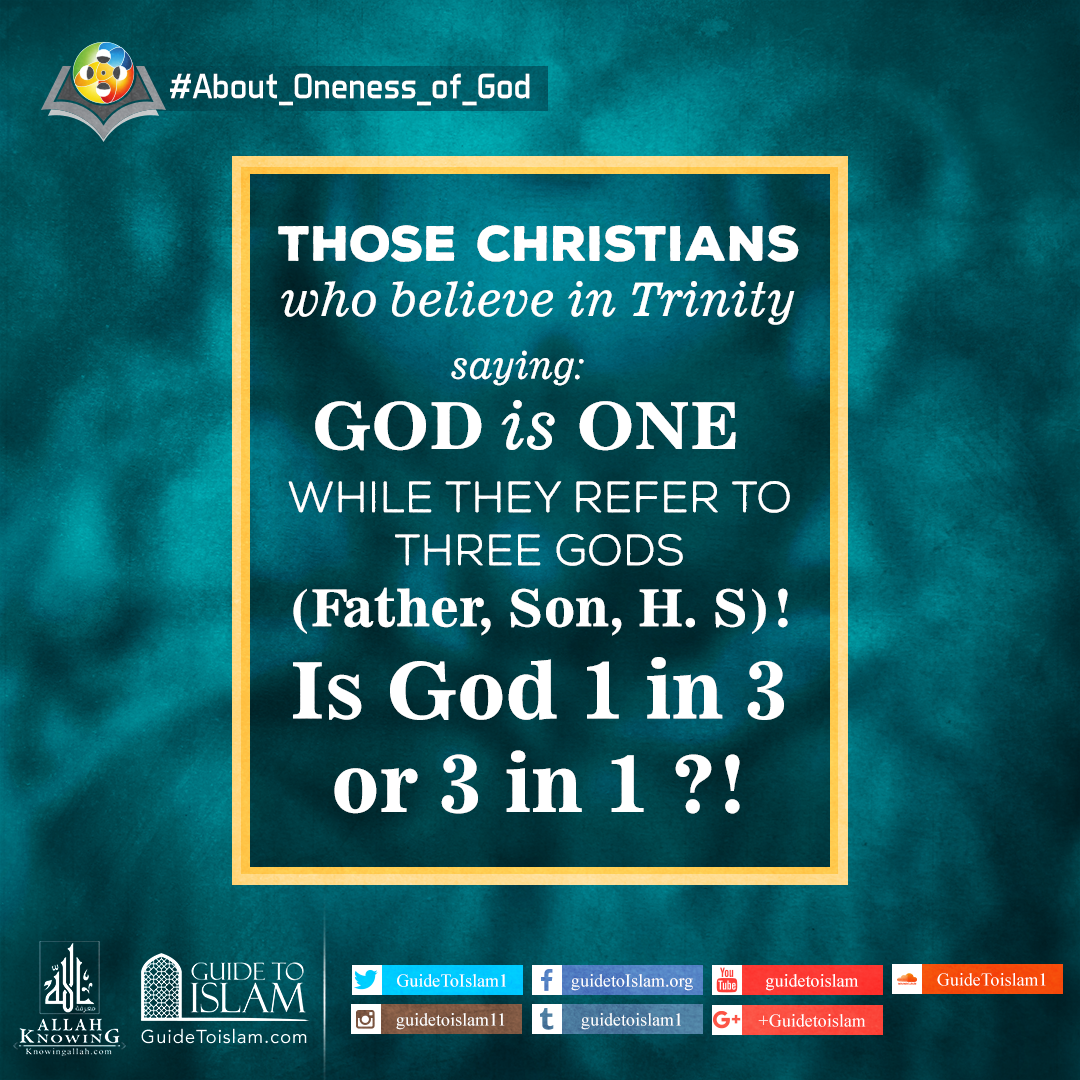 Is God is 1 in 3 or 3 in 1?