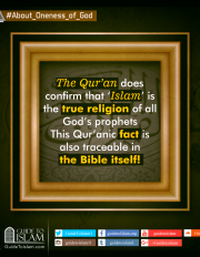 The Quran does confirm that 'Islam' is the true religion of all God's prophets