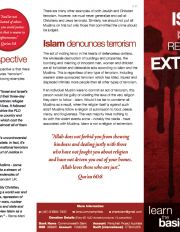 Islam is not a Religion of Extremism