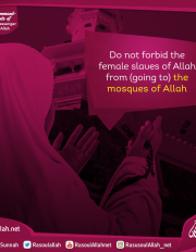 'Do not forbid the female slaves of Allah from (going to) the mosques of Allah