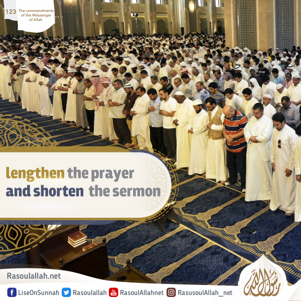 lengthen the prayer and shorten the sermon
