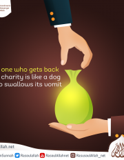 the one who gets back the charity is like a dog who swallows its vomit