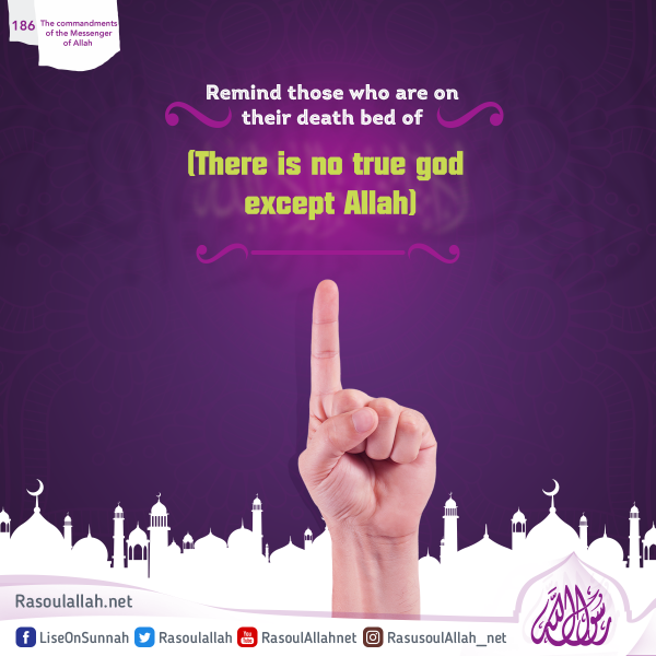 Remind those who are on their death bed of (There is no true god except Allah)