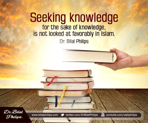 Seeking Knowledge the Way to the Paradise